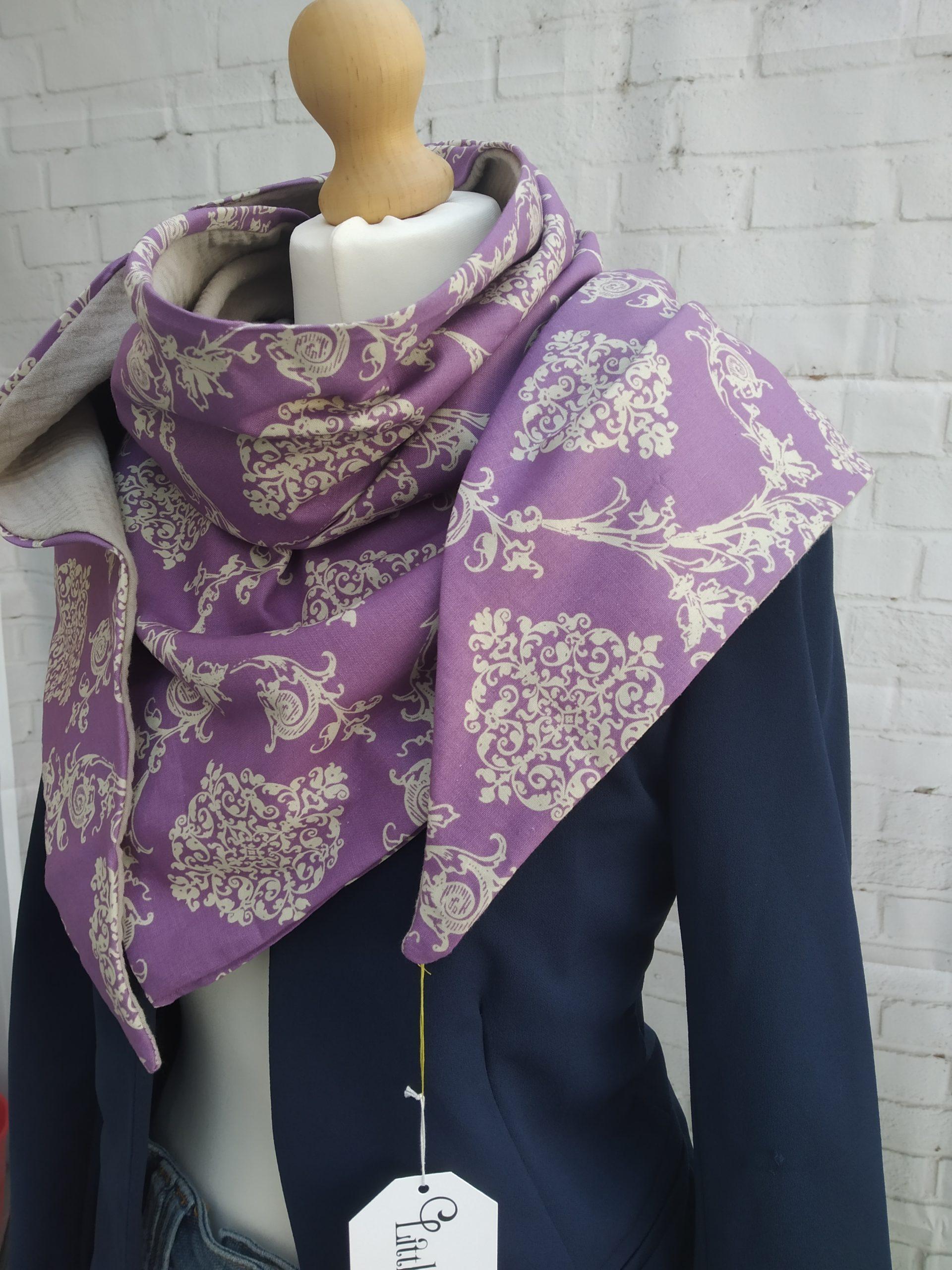 cheche violet beige 5