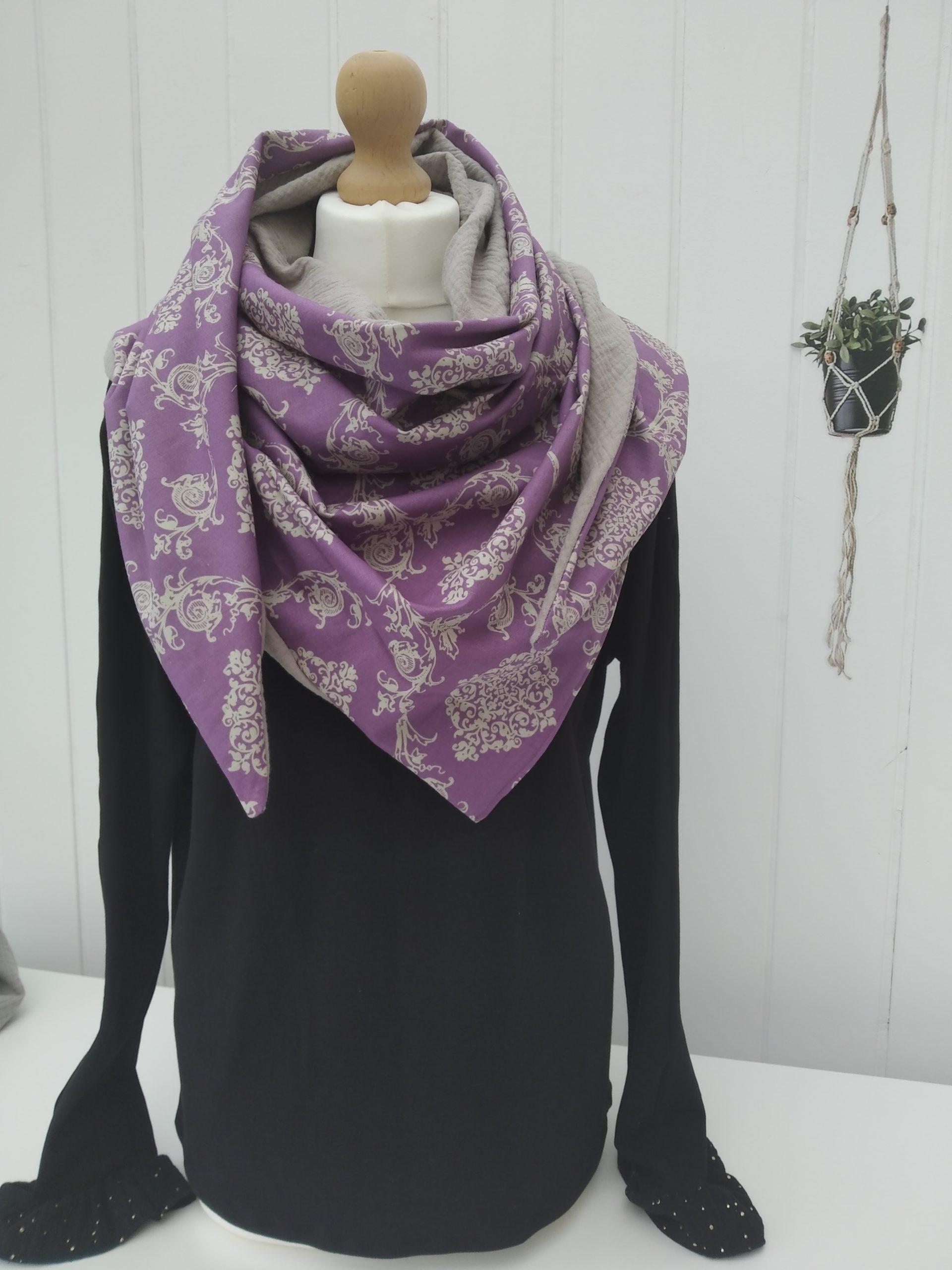 cheche violet beige