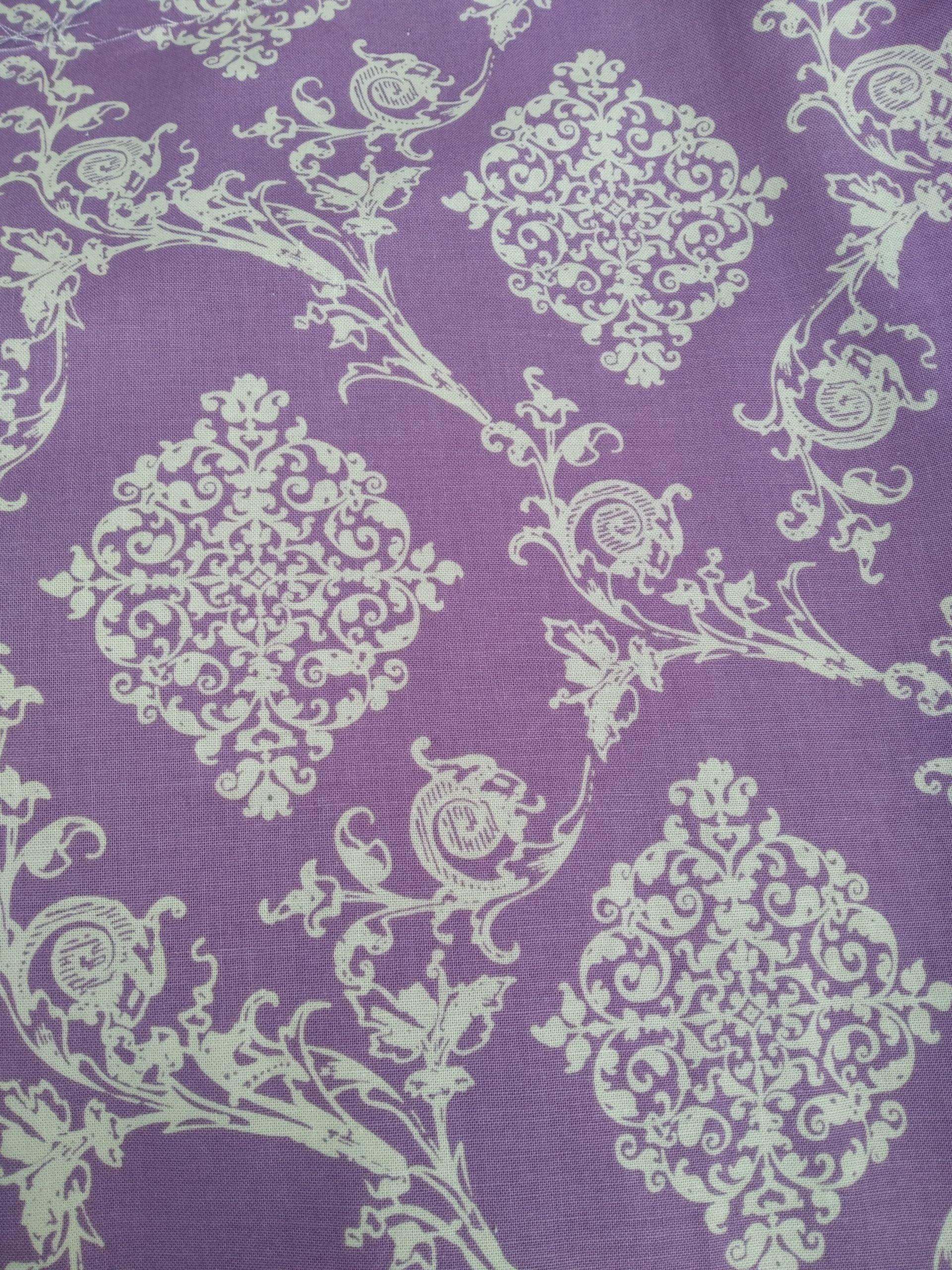 cheche violet beige tissu